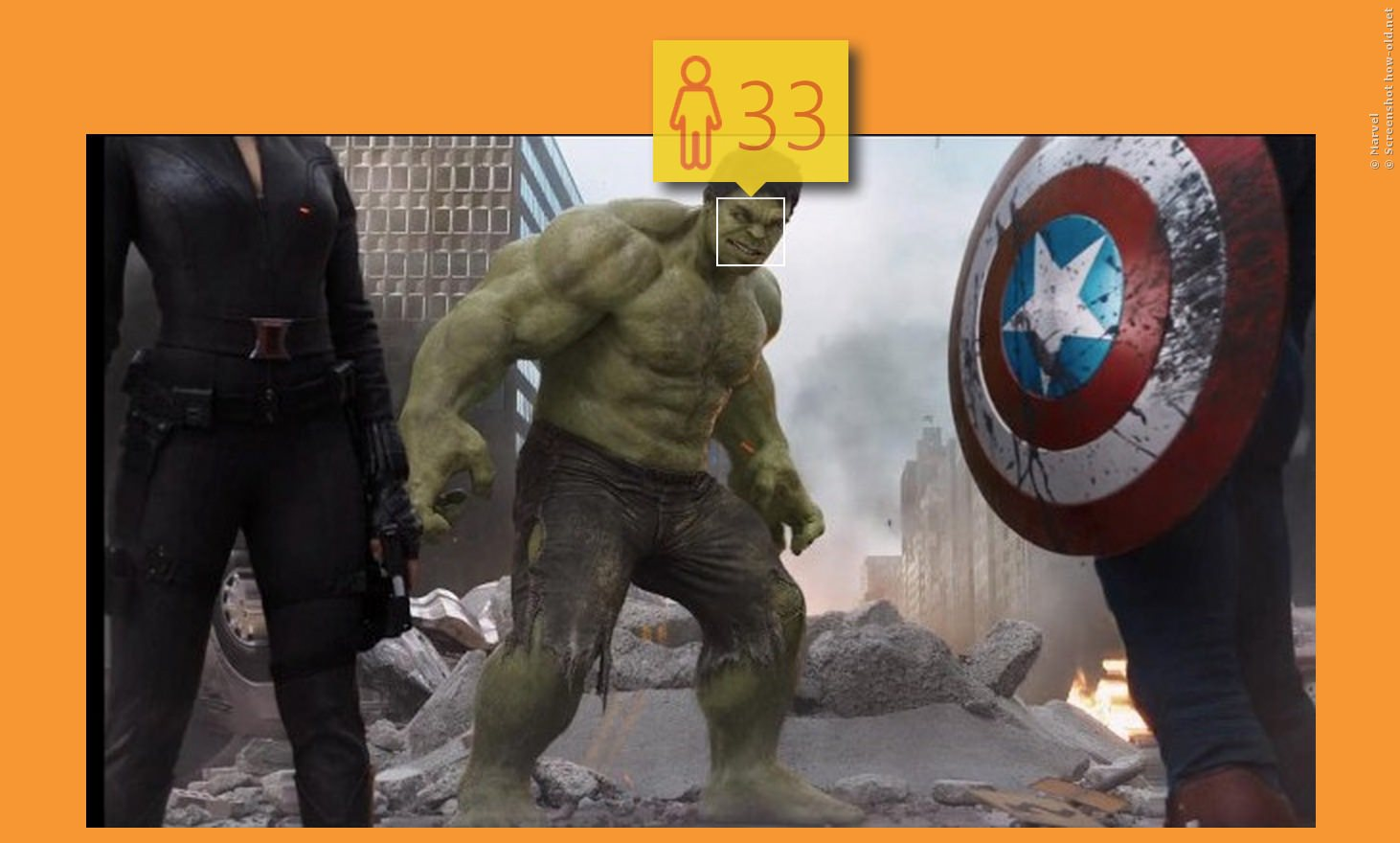 Das Wutmonster Hulk hat den Körper von drei 33jährigen Bodybuildern!