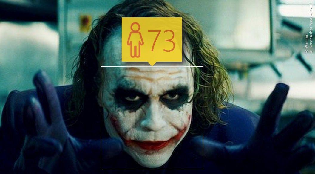 Der Joker schminkt sich nur alt!
