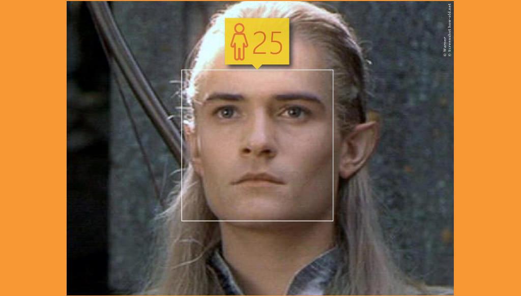 Genau wie Herr Legolas, der hier wahrscheinlich wegen seines Babyface für 25 durch geht!