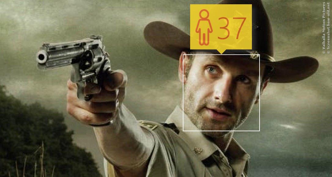 Sheriff Rick Grimes ist dagegen gut geschätzt! Im echten Leben ist er 41!