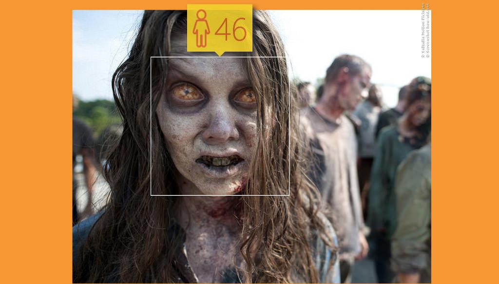 Apropos Schminke: Diese Zombie-Dame aus The Walking Dead könnte etwas mehr gebrauchen!