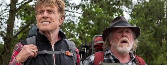 Ein ungleiches Paar starten in ihr vielleicht letztes Abenteuer. Robert Redford und Nick Nolte in: Picknick Mit Bären.