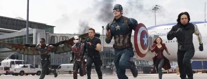 Captain America und seine Verbündeten