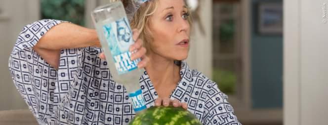 Logisch: Eine Wodkamelone muss man selber machen, weil es sie nicht zu kaufen gibt.