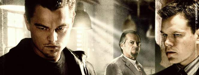 Leonardo DiCaprio, Matt Damon und Jack Nicholson in The Departed