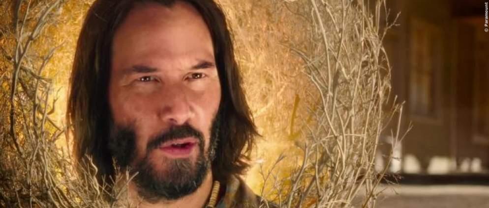 Keanu Reeves überraschend als Dornbusch im Kino