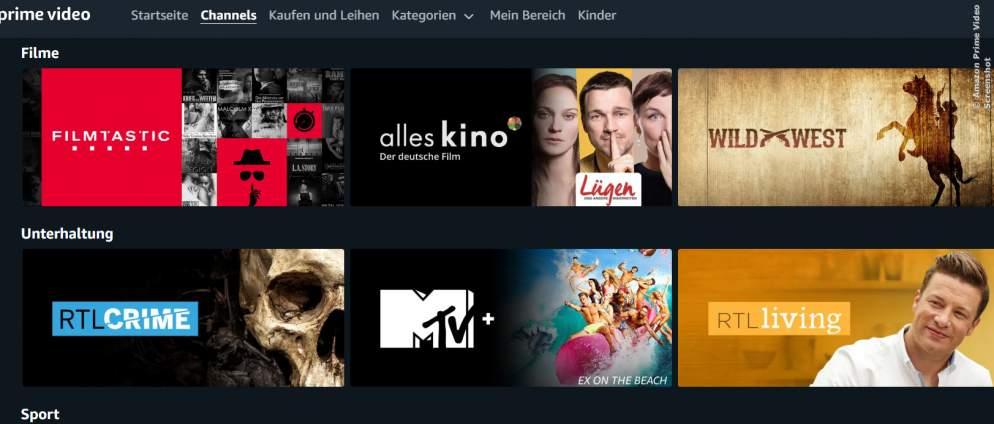 Amazon Prime Video: Viele Channels zur Zeit kostenlos